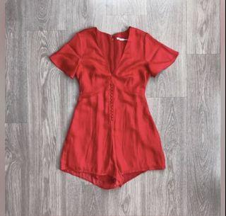 Urban Outfitters Silky Romper
