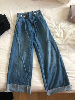 Zara童裝寬管牛仔褲