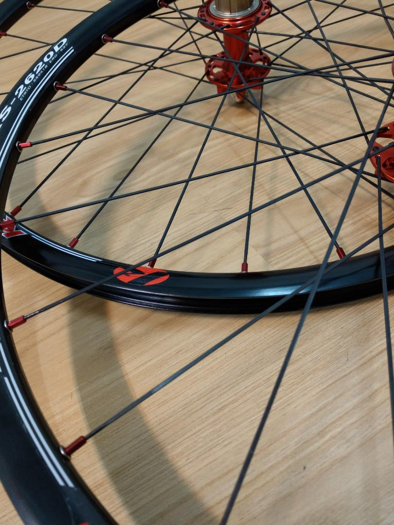 26 MTB  black alloy wheel with Aero spoke