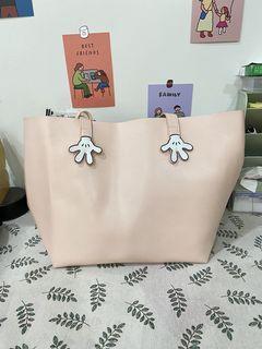 迪士尼米妮手造型簡約子母托特包