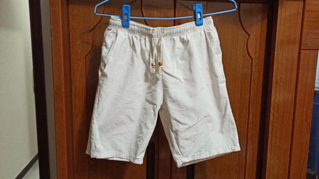 二手---白色鬆緊休閒短褲