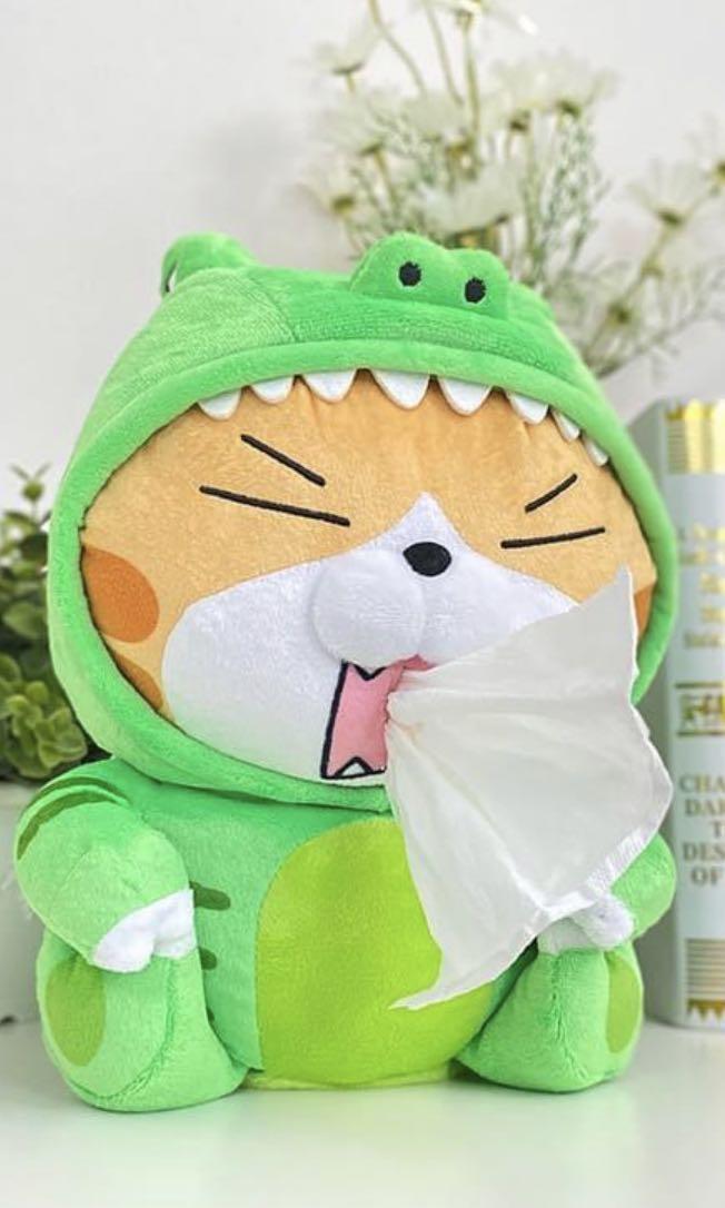 白爛貓恐龍面紙套