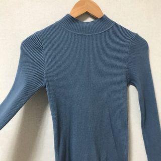 顯胸大毛衣(藍)