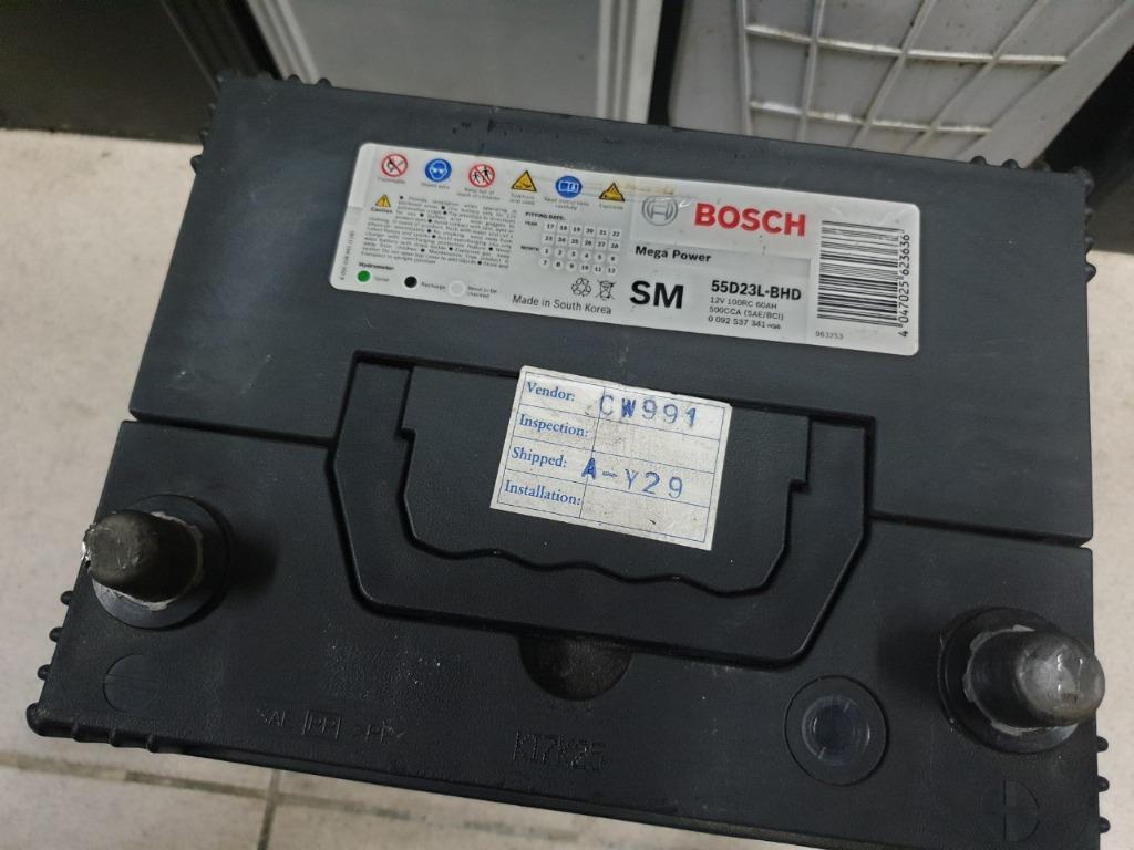 (二手中古電池) BOSCH 55D23L-SMF 免保養汽車電池 數值漂亮,品項優