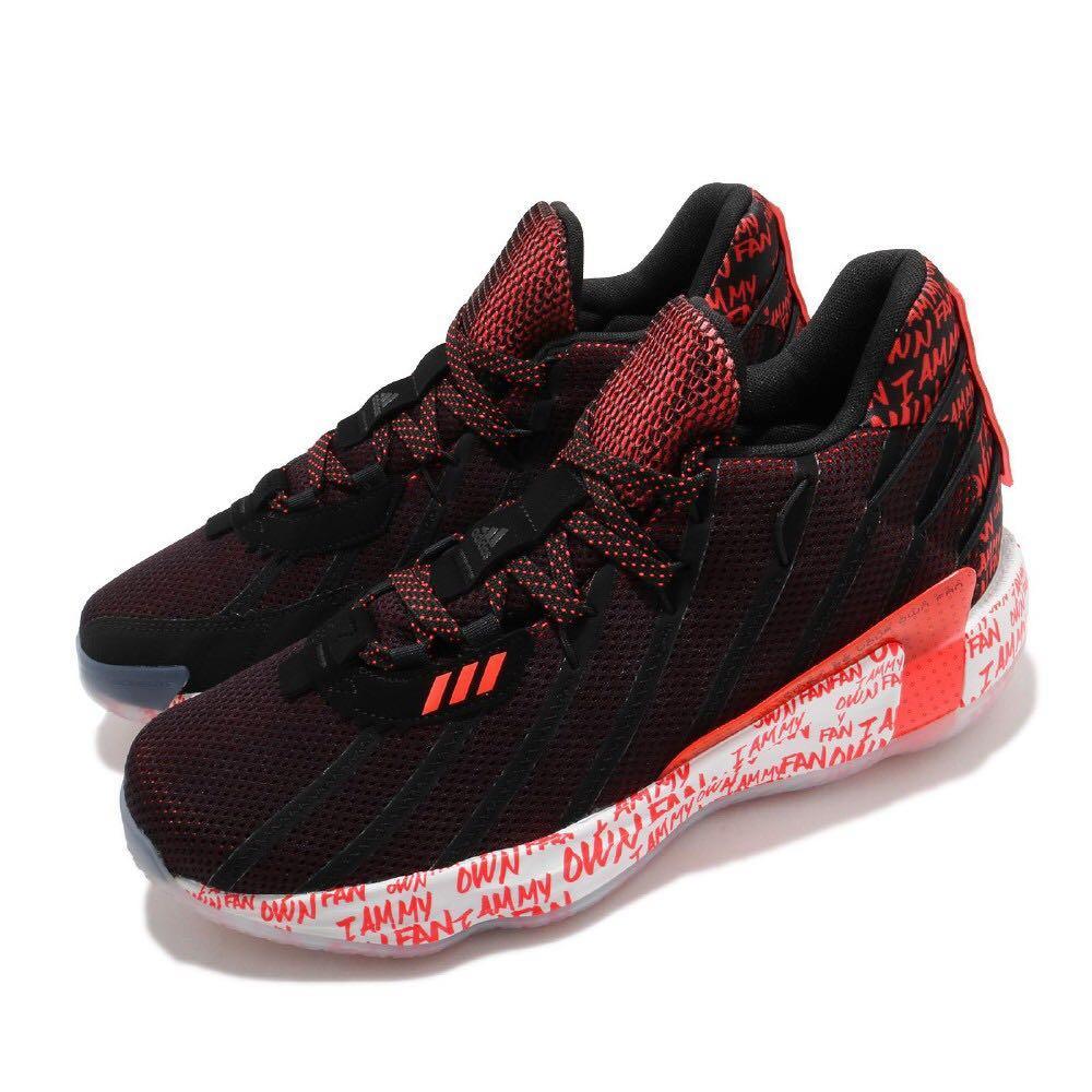 adidas 籃球鞋 Dame 7 運動休閒 男鞋 愛迪達 里拉德 2K21 避震 輕量 回彈 黑 紅 G55199