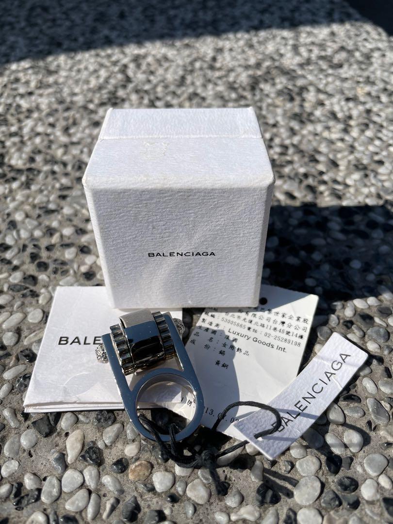 Balenciaga 巴黎世家 經典 齒輪戒指 銀色