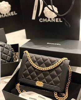 Chanel woc boy 荔枝皮 金釦在台現貨