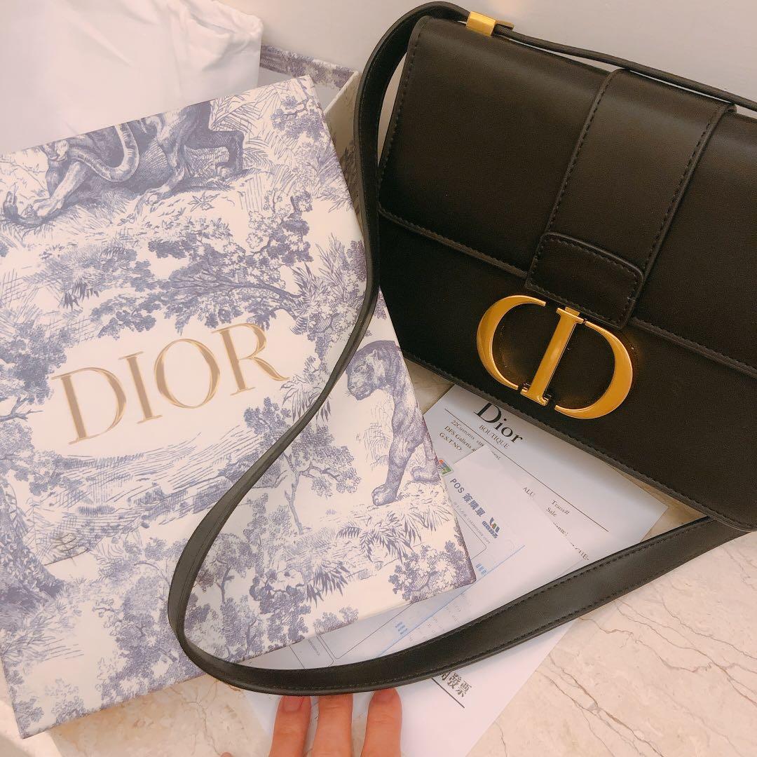 【Dior 迪奧】仿舊鍊帶蒙田包(黑色)