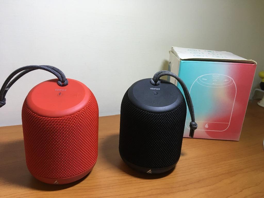 【專賣二手物】Edifier漫步者 便攜藍芽音箱MB200(紅黑一對)