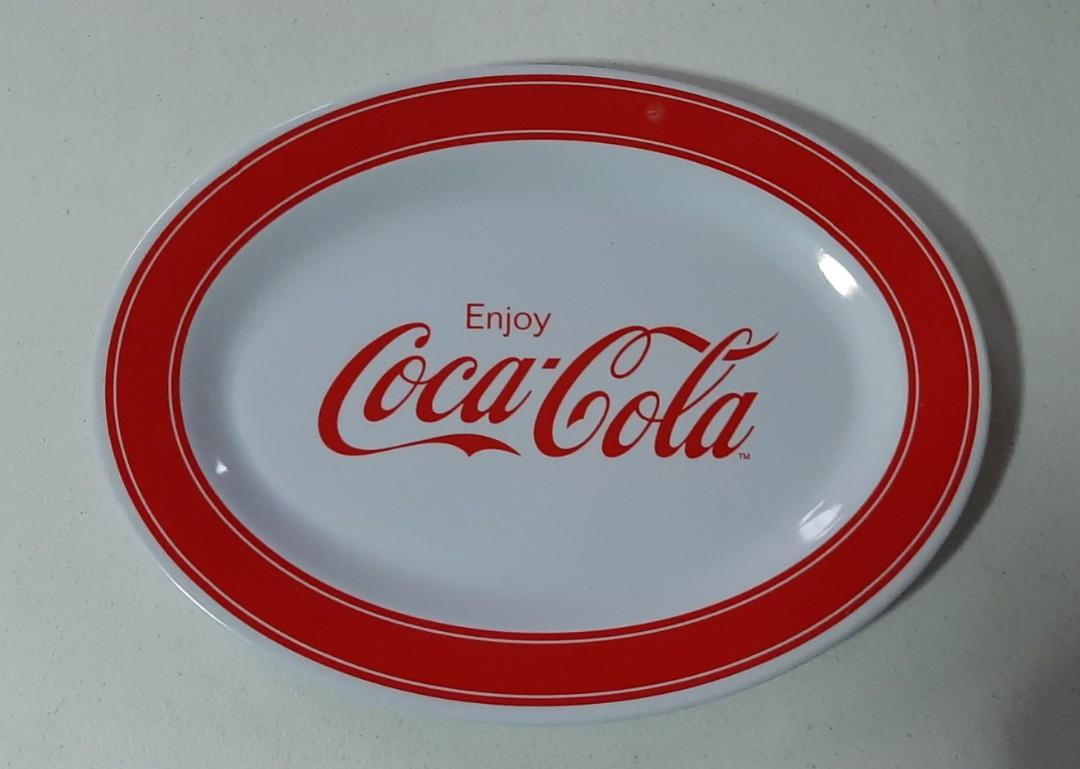 Enjoy Coca Cola Coke Collectible Plastic Melamine Oval Plate Collection
