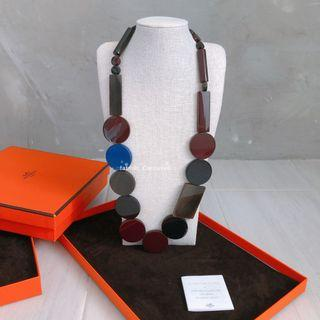 Hermes Horn & Lacquer necklace