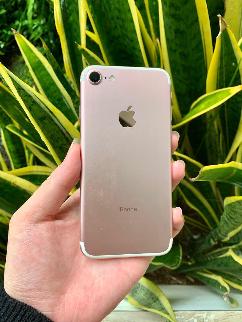 Iphone 7 Rose Gold Series Preloved / Second