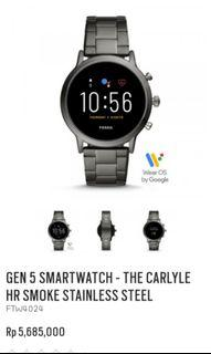 Jual Fossil gen 5 smartwatch the carlyle hr