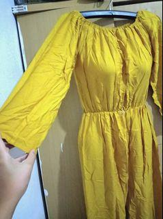 Jumpsuit Sabrina mustard