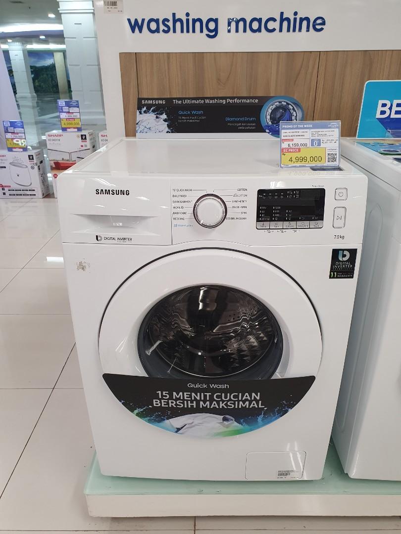 Mesin Cuci Samsung Front Loading 7Kg PROMO FREE ADMIN & BUNGA BISA 0%