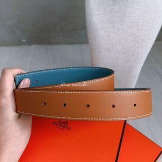 New Hermes Reversible Leather Belt Strap - size 75