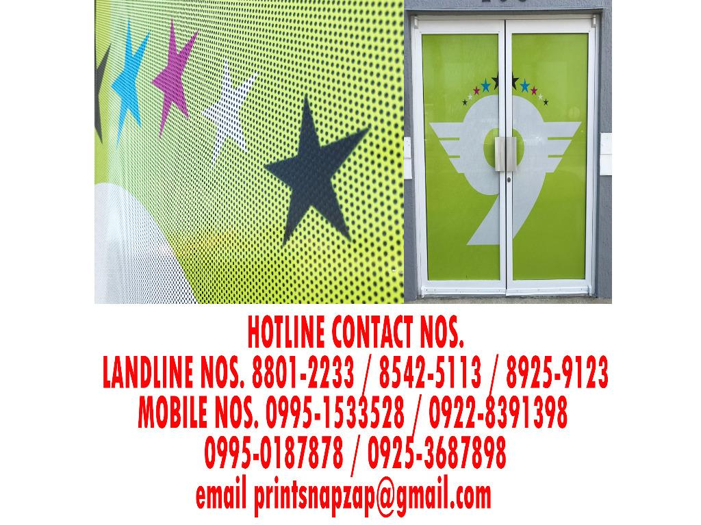 Perforated Sticker Clear Sticker Frosted Sticker Print Prints Printing and Installation