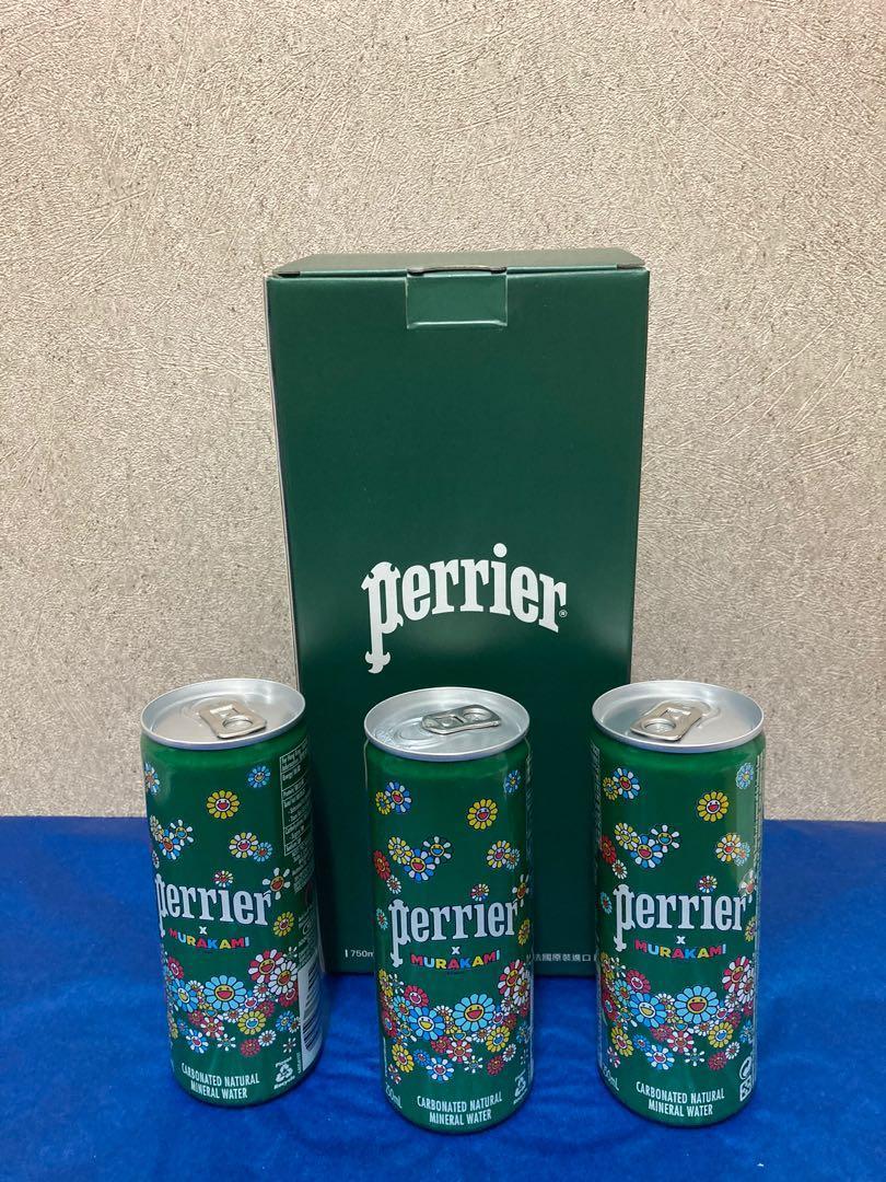 《現貨》Perrier x 村上隆 玻璃瓶750ml + 限定鋁罐250ml
