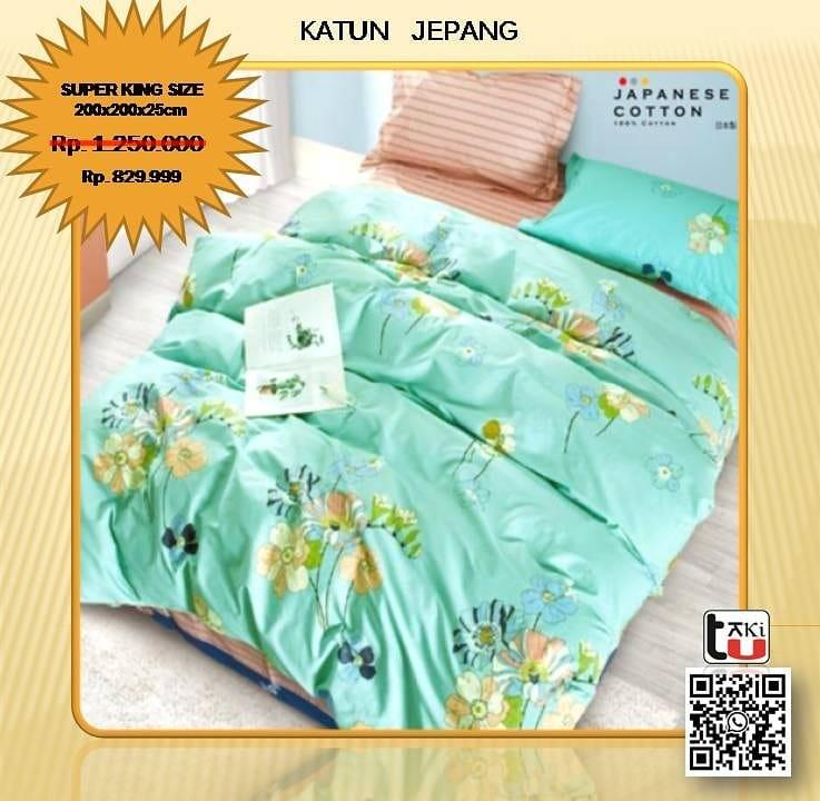 Sprei Set / Bed Cover Katun Jepang