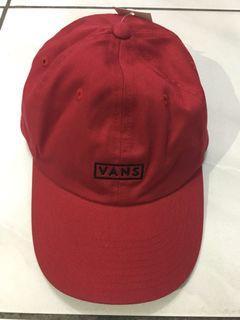 VANS BOX LOGO CAP 老帽酒紅色