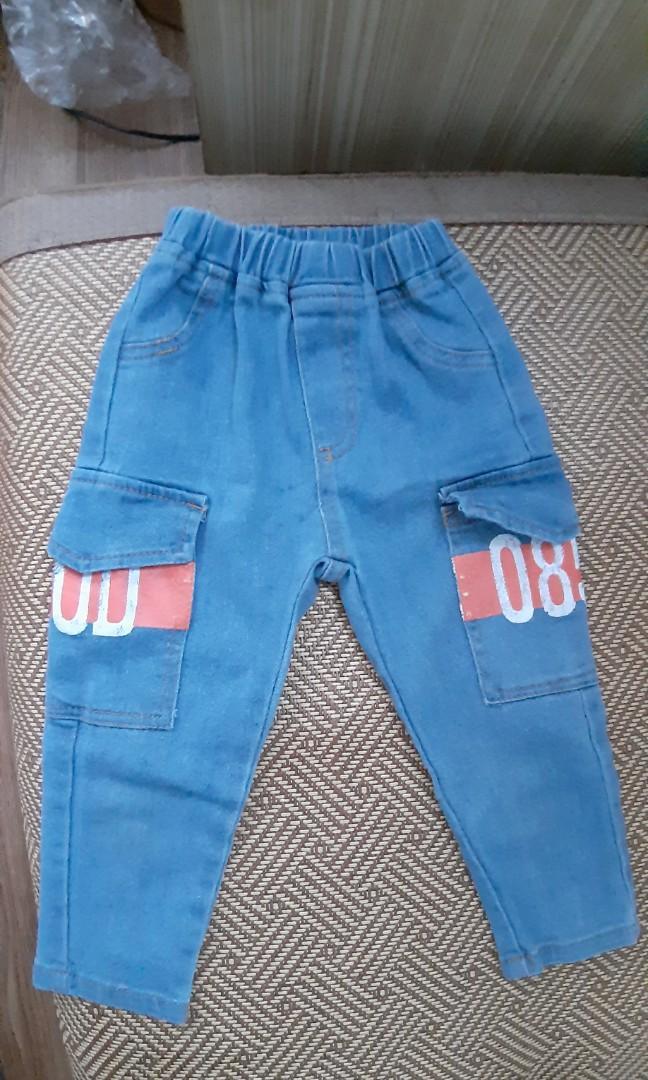 男童牛仔長褲