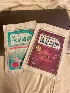 日本版🎎足休時間  : 一套兩包 。每包六片  (晚間香氣專屬及普通日常)