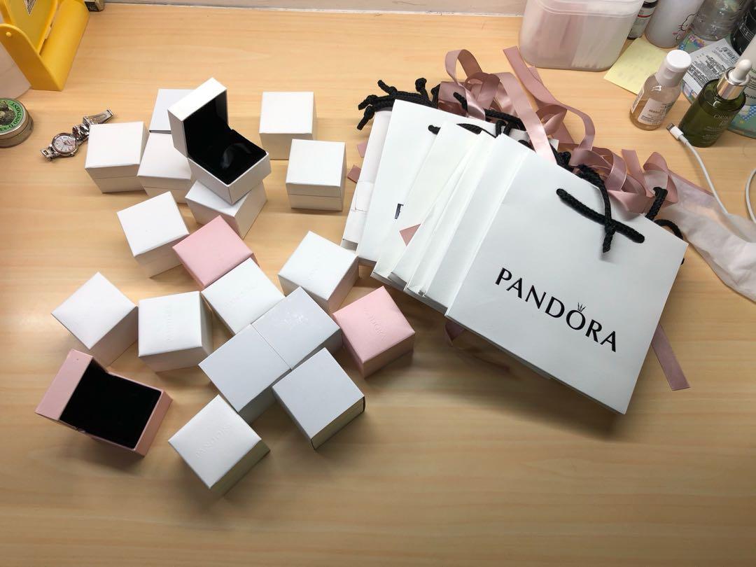 潘朵拉 飾品盒  紙袋PANDORA