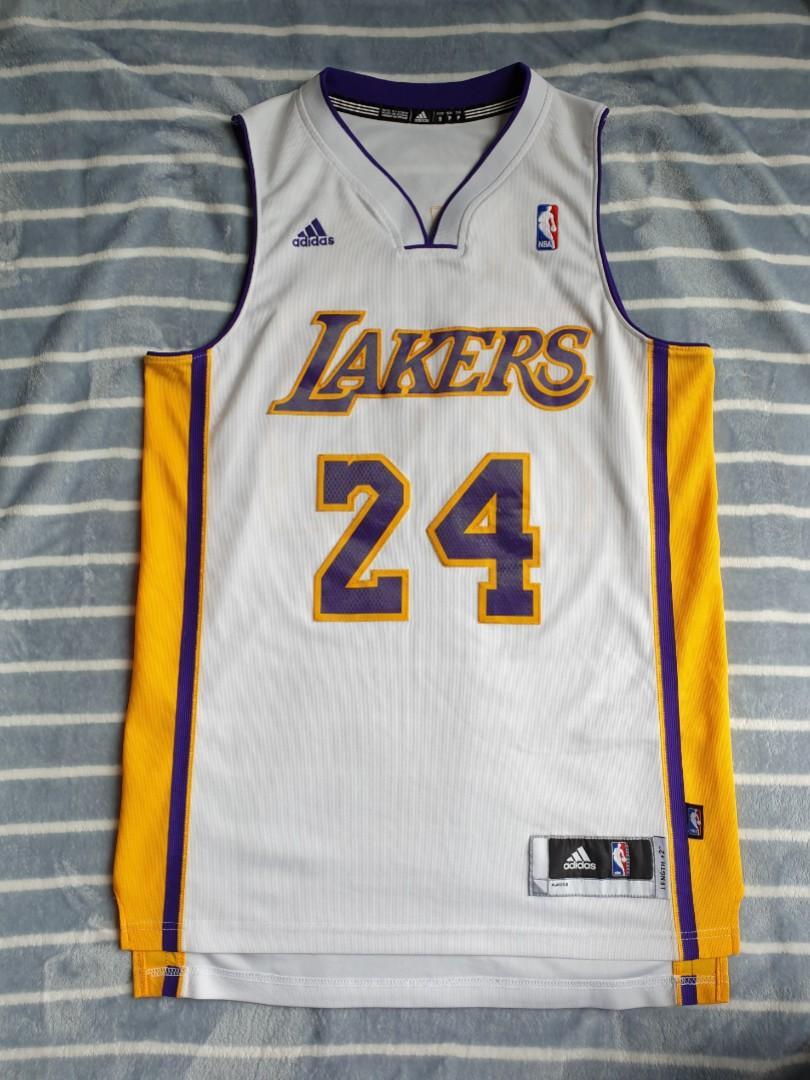 Authentic Adidas Men's NBA Kobe Bryant Lakers Sunday White ...