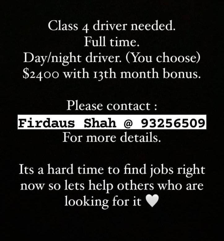 CLASS 4 DRIVERS NEEDED
