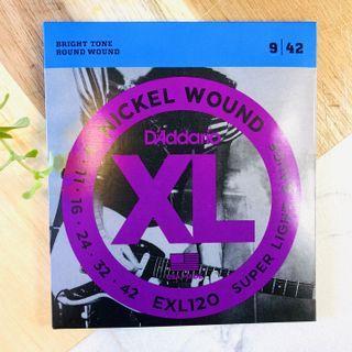D'Addario Nickel Wound Electric Guitar String EXL 110/ EXL 120 Bright Tone
