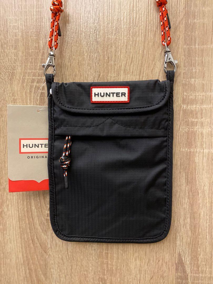 正品英國潮牌Hunter黑色 尼龍 防水 多功能夾層 包包 手機包