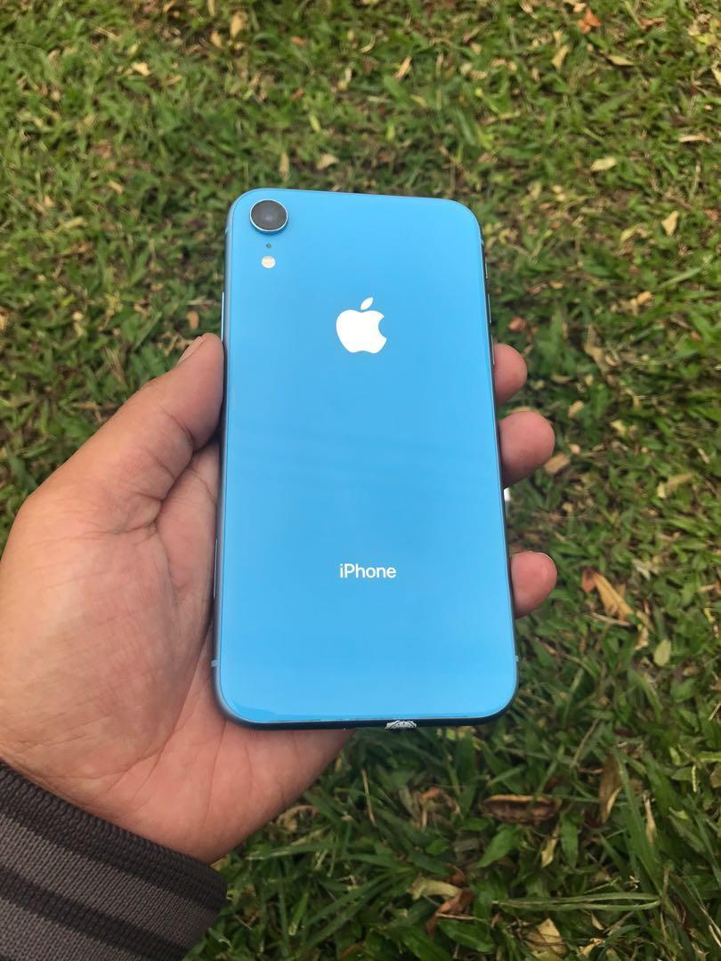 iPhone XR 64gb blue fullset mulus