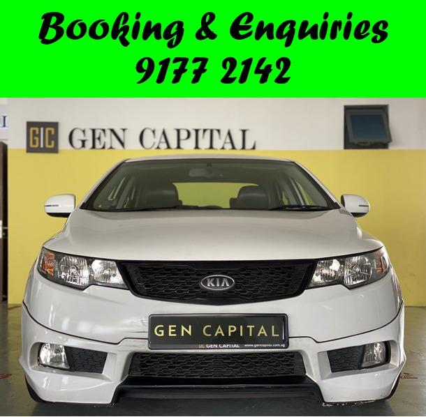 Kia Cerato.Less than 10 years old.PHV/PERSONAL/GRAB/Ryde/GOJEK/PARCEL DELIVERY .$500 deposit only. Whatsapp 9177 2142 to reserve.Cheap Car Rental. Cheap Car. Budget car.