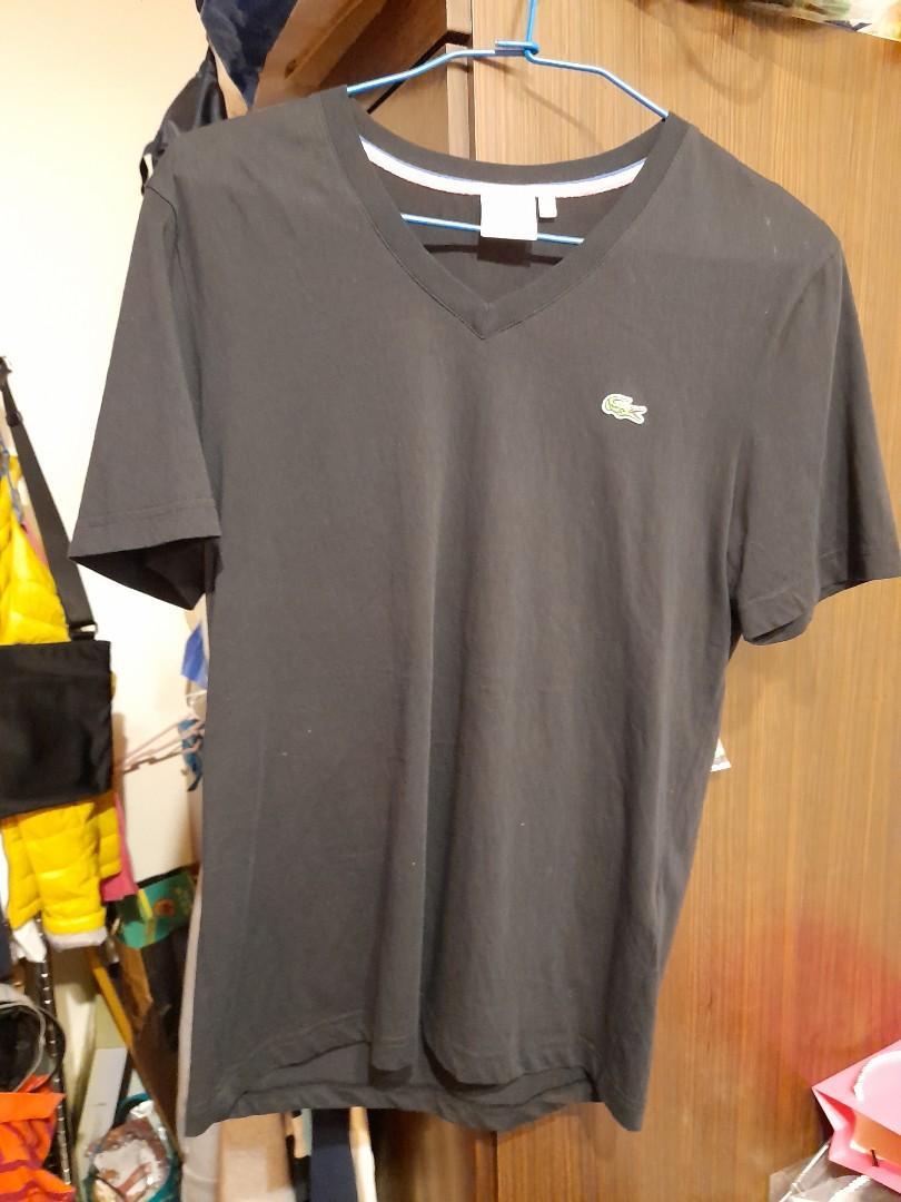 真品lacoste 黑色T shirt