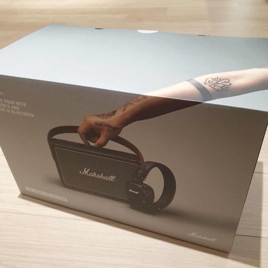 Marshall kilburn II攜帶式藍芽喇叭 +major III藍芽耳罩式耳機組合
