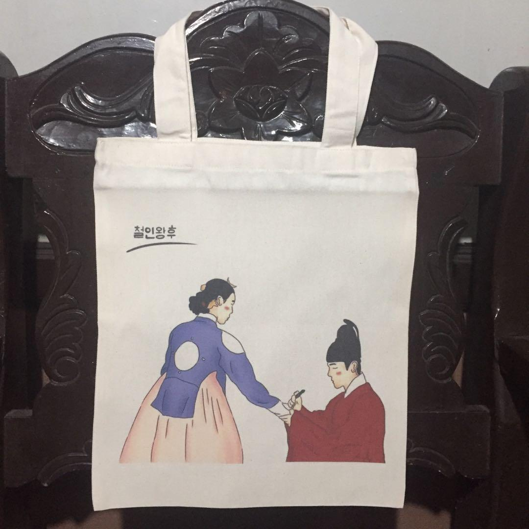 Mr Queen tote bag