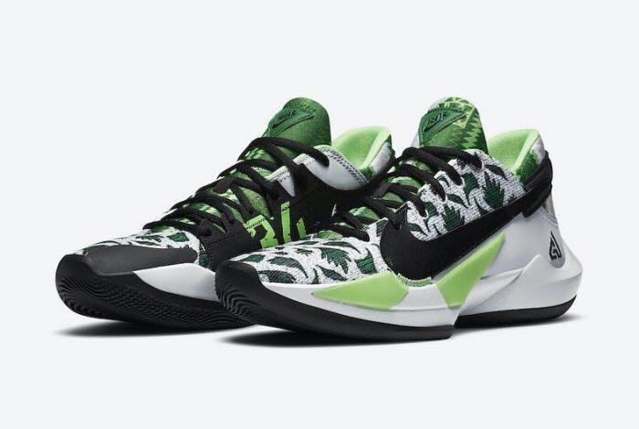 Nike Zoom Freak 2 Naija DA0907-002 DA0908-002 白黑綠 字母哥
