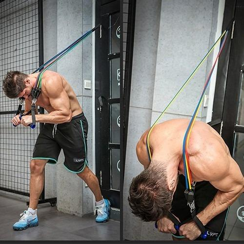 Power Resistance Bands Set (Exercise Body Build Gym At Home Fitness Anywhere)