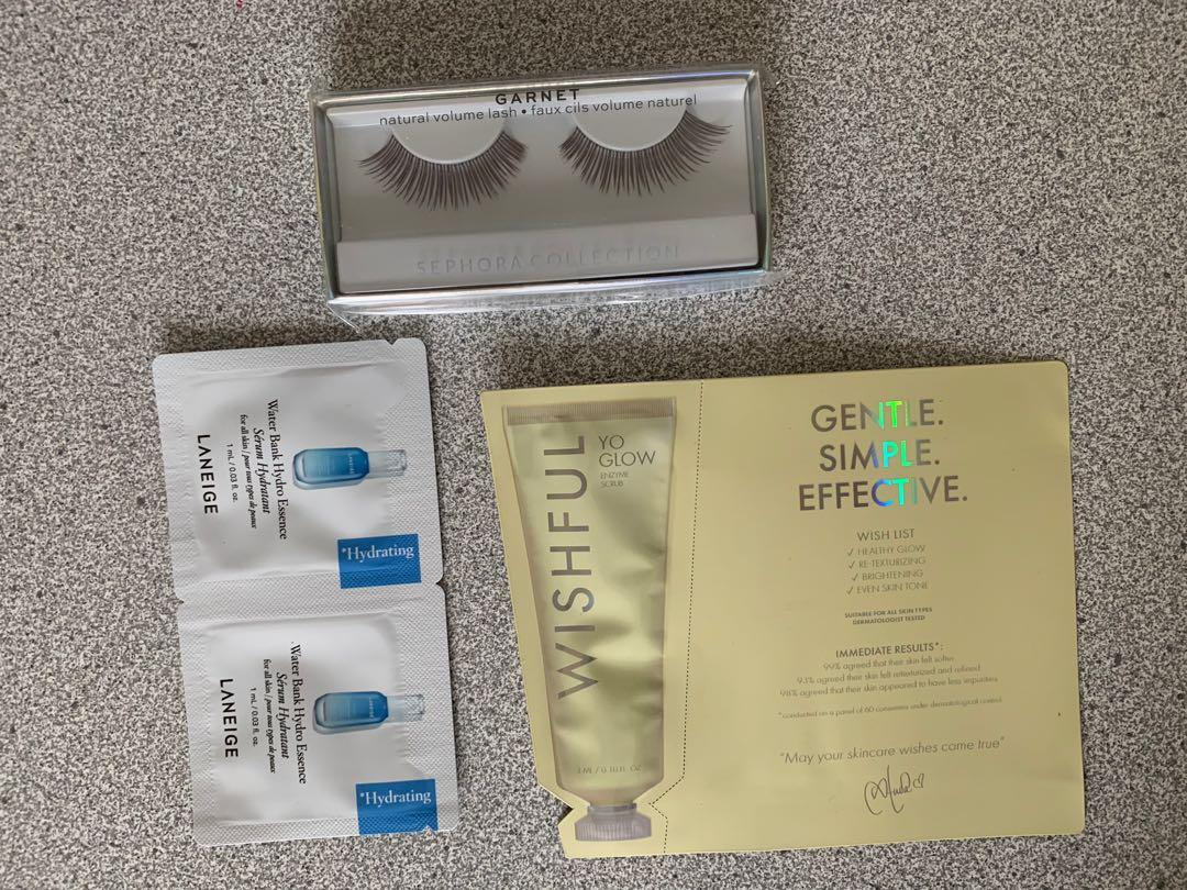 Sephora collection lashes and samples