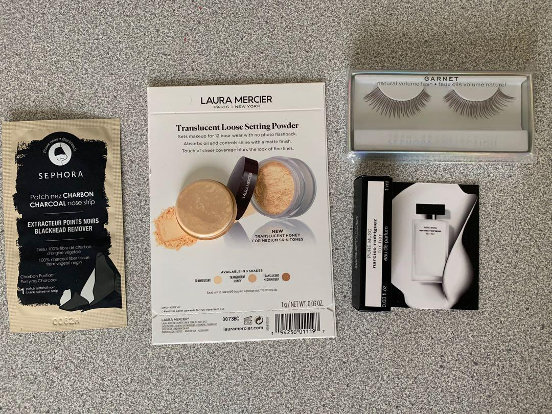 Sephora collection lashes nose strip and sample bundle
