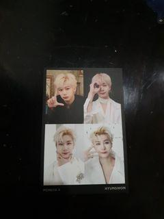 [WTS] Monsta x hyungwon broadcast postcard
