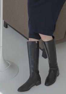 ⬇️[二手]簡約平底靴-黑色#我媽的