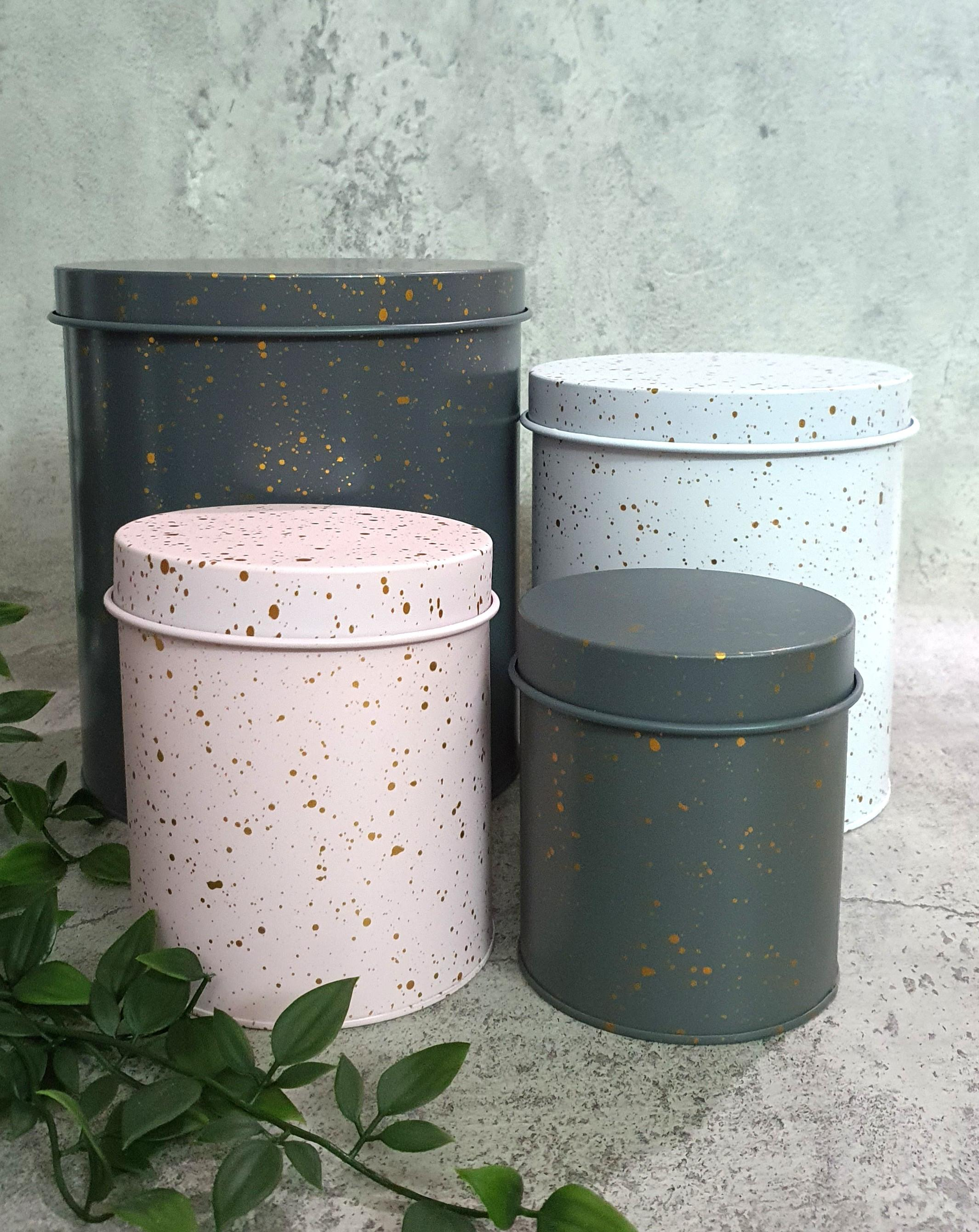 4 Piece Metal Canister Set