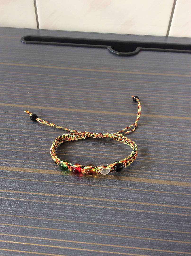 五色水晶 五色線幸運手環