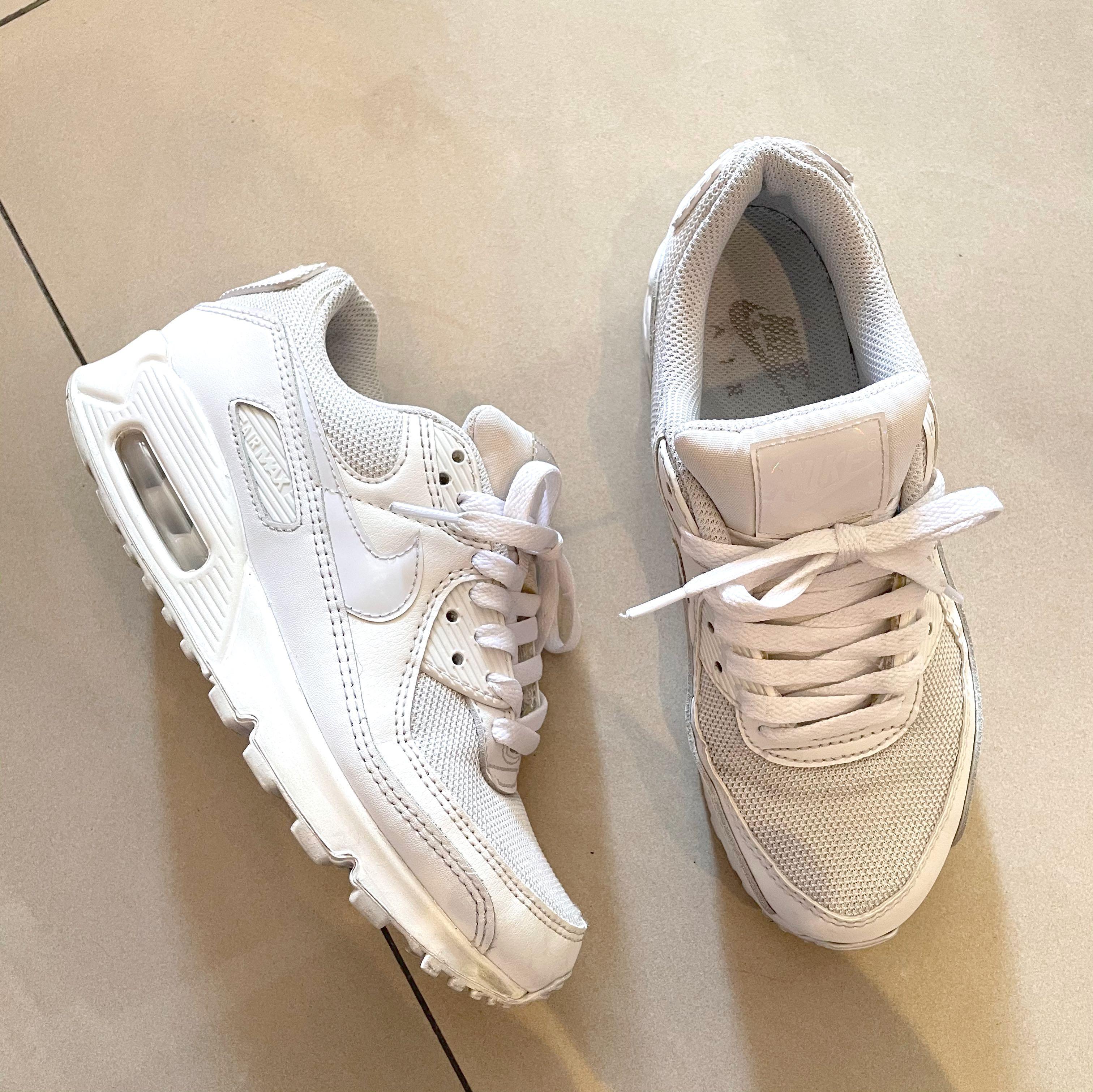 降!二手👉🏾Air Max 90 Twist 運動 女鞋 氣墊 避震 經典 簡約 球鞋 白