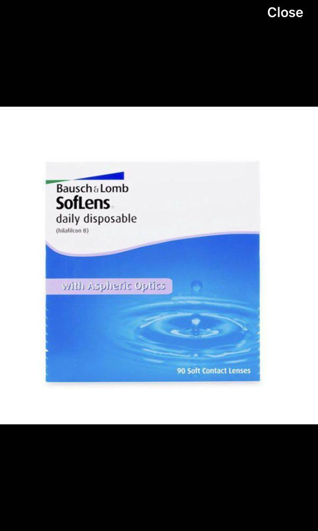 Bausch & Lomb daily contacts