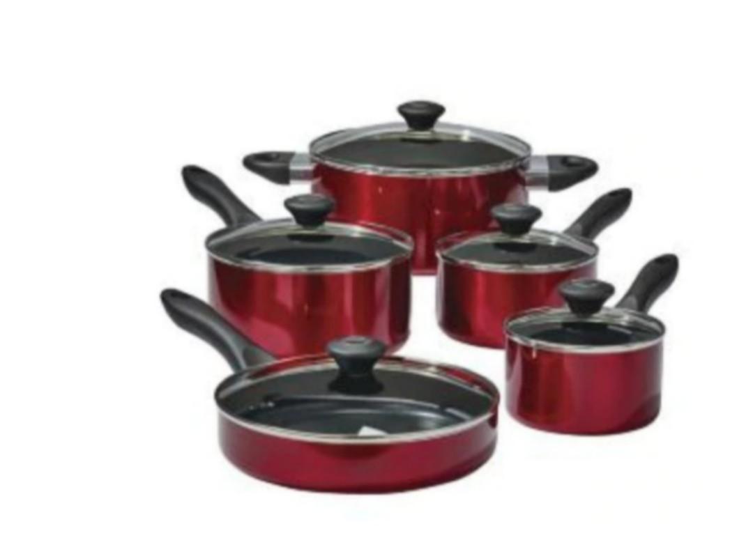 Brand New Lagostina Ticino 10-pc Non-Stick Cookware Set