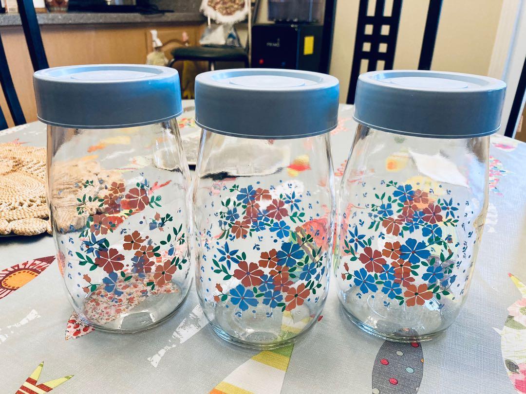 Glass Storage Jars - Set of 3