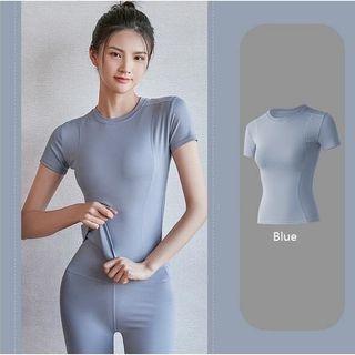 Light Blue Yoga Sports Quick Drying Top