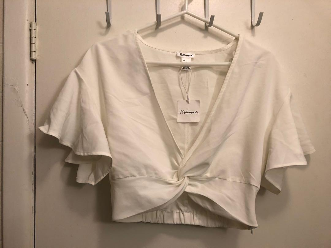 NEW Revamped slinky crop top size large